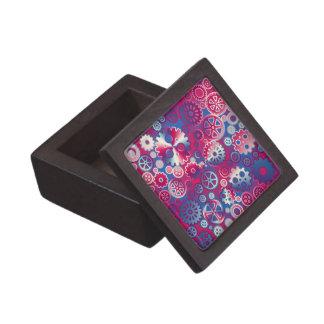 Engranajes metálicos coloridos cajas de recuerdo de calidad