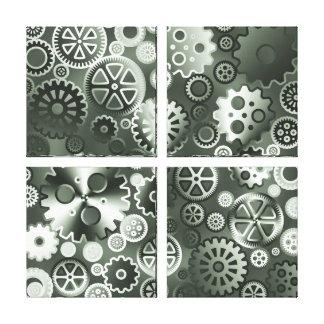 Engranajes metálicos de acero impresión en lona estirada