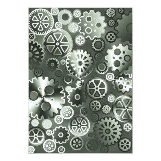 """Engranajes metálicos de acero invitación 5"""" x 7"""""""