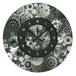 Engranajes metálicos de acero reloj redondo grande