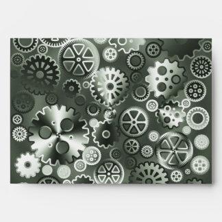 Engranajes metálicos de acero sobre