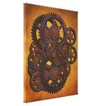 Engranajes oxidados de Steampunk Impresiones En Lona Estiradas