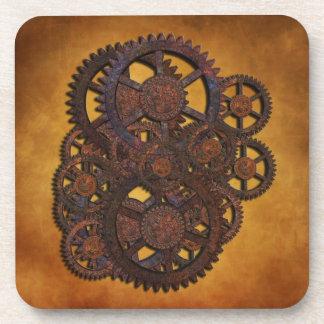 Engranajes oxidados de Steampunk Posavaso
