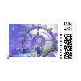 Engranajes Timbre Postal