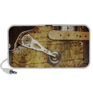 Engranajes y cuero de Steampunk Laptop Altavoz