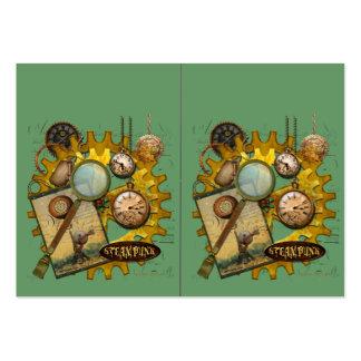 Engranajes y lupa de Steampunk Tarjetas De Visita Grandes