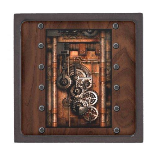 Engranajes y remaches de SteamPunk Cajas De Recuerdo De Calidad