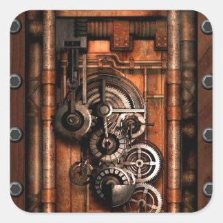 Engranajes y remaches de SteamPunk Colcomanias Cuadradases