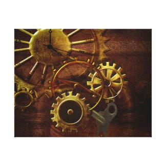 Engranajes y tubos de Steampunk Impresiones En Lona Estiradas