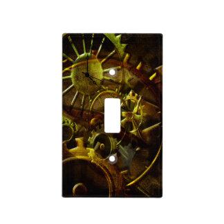 Engranajes y tubos de Steampunk Placa Para Interruptor