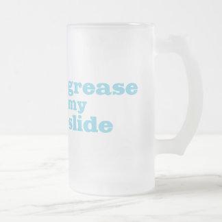 Engrase mi diapositiva (del trombone) taza de cristal