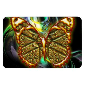 Engraved Butterfly 1 Premium Magnet