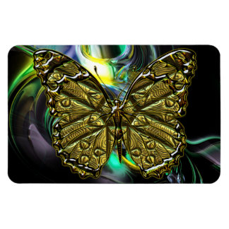 Engraved Butterfly 2 Premium Magnet