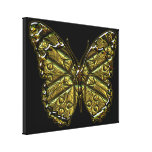 Engraved Butterfly 2 Wrapped Canvas Canvas Prints