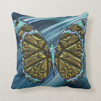 Engraved  Butterfly 3 Pillow