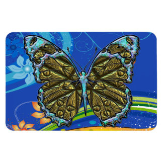 Engraved Butterfly 3 Premium Magnet
