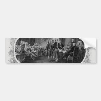 Engraved Declaration of Independence John Trumbull Bumper Sticker