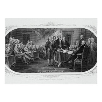 Engraved Declaration of Independence John Trumbull Card