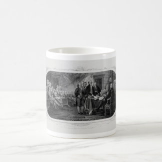 Engraved Declaration of Independence John Trumbull Coffee Mug