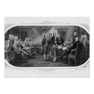 Engraved Declaration of Independence John Trumbull Personalized Invitations