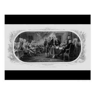 Engraved Declaration of Independence John Trumbull Postcard