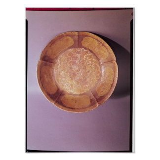 Engraved dish, Tang dynasty Poster