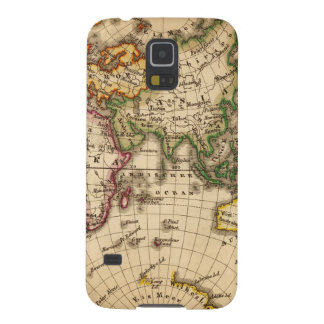 Engraved Eastern Hemisphere Map Case For Galaxy S5