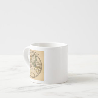 Engraved Eastern Hemisphere Map Espresso Cup