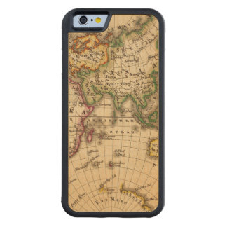 Engraved Eastern Hemisphere Map Carved® Maple iPhone 6 Bumper Case