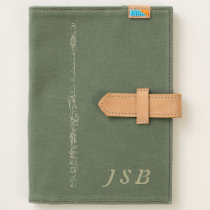 Engraved-Effect Flute Drawing Personal Monogram Journal