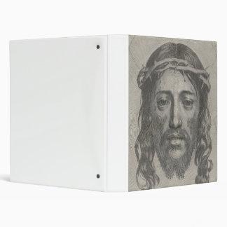 Engraved Face of Jesus Christ by Claude Mellan 3 Ring Binder