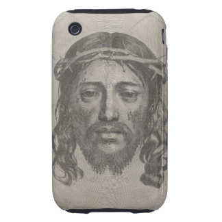 Engraved Face of Jesus Christ by Claude Mellan Tough iPhone 3 Case