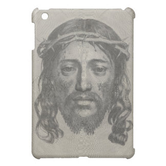 Engraved Face of Jesus Christ by Claude Mellan iPad Mini Covers