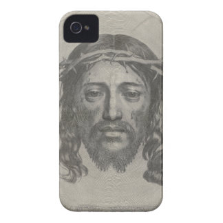 Engraved Face of Jesus Christ by Claude Mellan iPhone 4 Case-Mate Cases