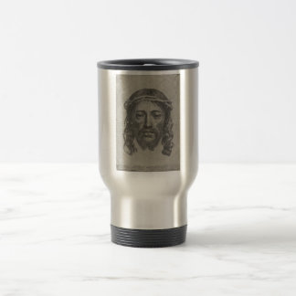 Engraved Face of Jesus Christ by Claude Mellan 15 Oz Stainless Steel Travel Mug