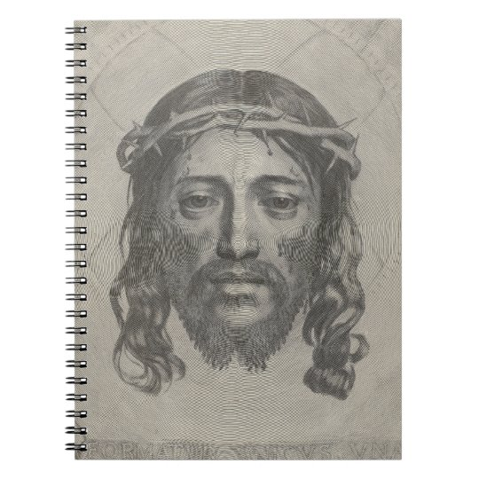 Engraved Face of Jesus Christ by Claude Mellan Notebook