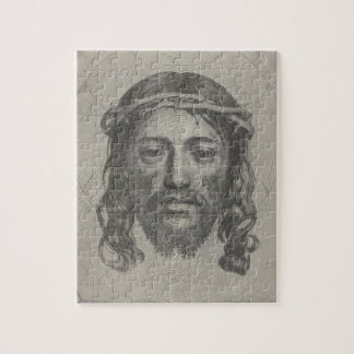 Engraved Face of Jesus Christ by Claude Mellan Puzzle