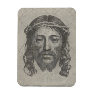 Engraved Face of Jesus Christ by Claude Mellan Rectangular Photo Magnet