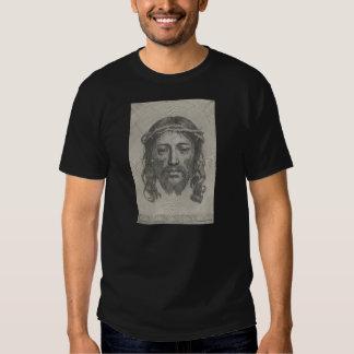 Engraved Face of Jesus Christ by Claude Mellan Tee Shirt