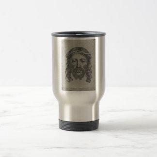 Engraved Face of Jesus Christ by Claude Mellan Travel Mug