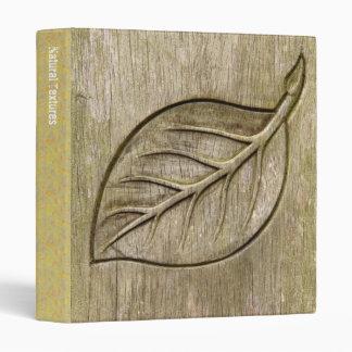 Engraved leaf binder