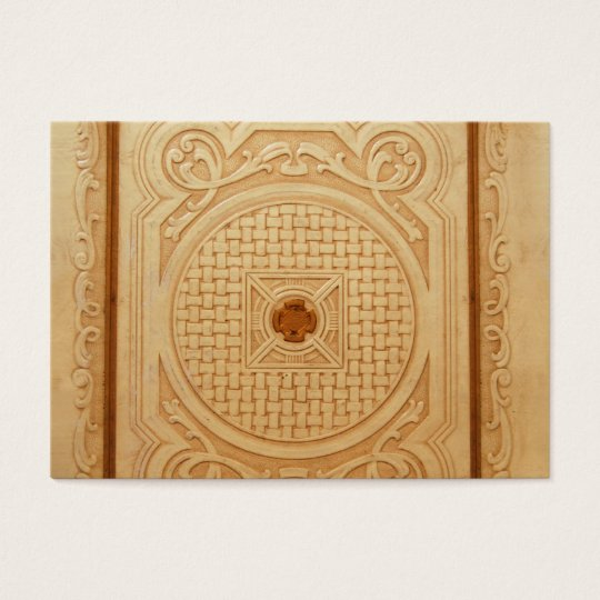 Engraved Leather-like Book Cover Image Business Card