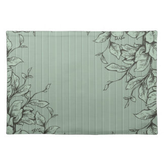 Engraved Leaves and Vines Place Mats