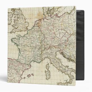 Engraved Map of Europe 3 Ring Binder
