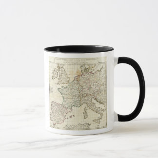 Engraved Map of Europe Mug