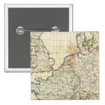 Engraved Map of Europe Pinback Button