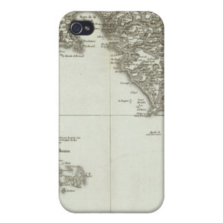 Engraved map of France 2 iPhone 4 Covers