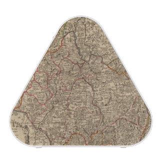 Engraved map of France Bluetooth Speaker