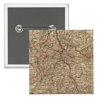 Engraved map of France Pinback Button