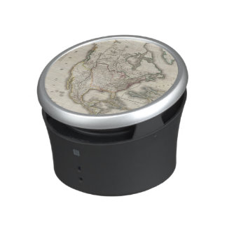 Engraved Map of North America Bluetooth Speaker